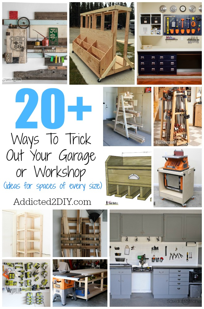 Excellent 20 Ways To Trick Out Your Garage Or Workshop Addicted 2 Diy Home Interior And Landscaping Ologienasavecom