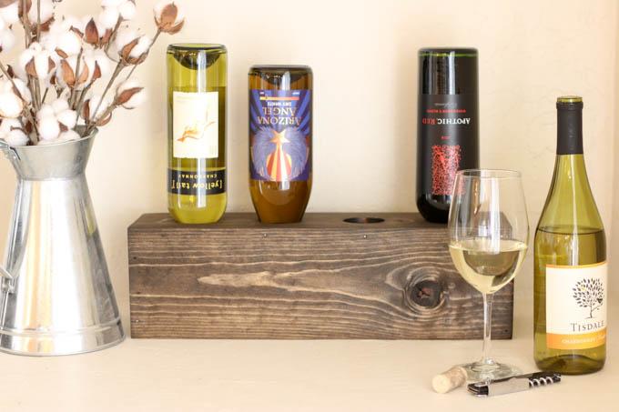scrap wood wine bottle holder