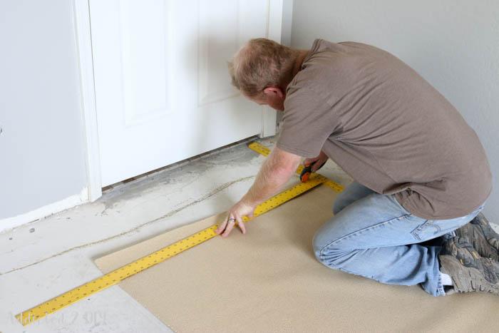 installing underlayment