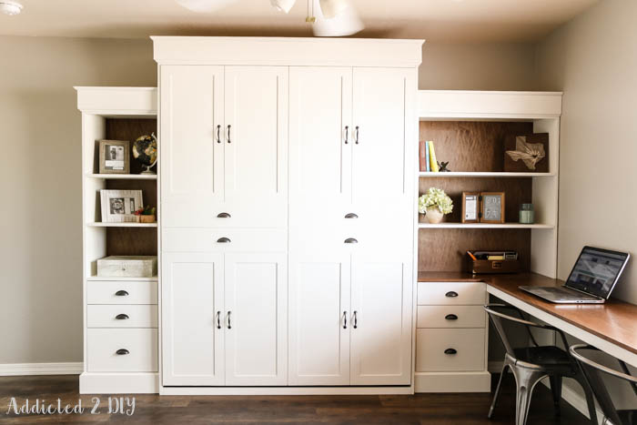 Diy modern farmhouse murphy bed how to build the bed and diy modern farmhouse murphy bed solutioingenieria Choice Image