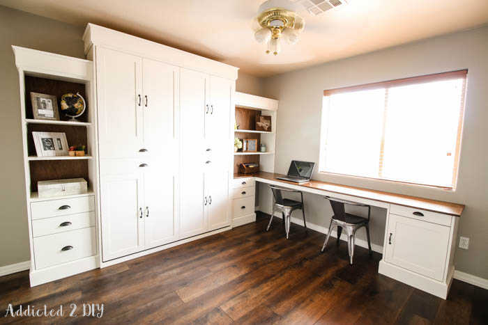 DIY Modern Farmhouse Murphy Bed with Desk Modifications