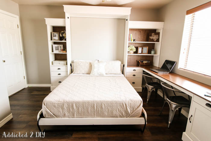 How to build a murphy bed cabinet