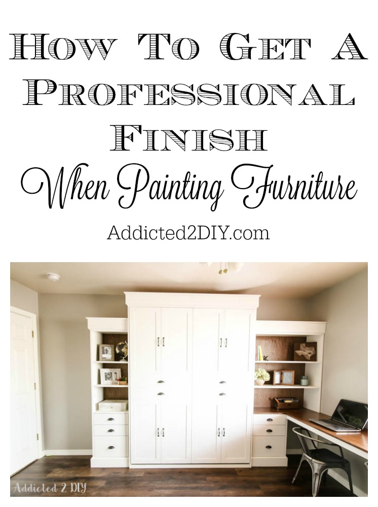 How To Get A Professional Finish When Painting Furniture