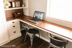 DIY Modern Farmhouse Murphy Bed – How To Build The Desk (Free Plans!)