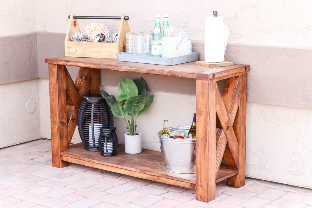diy rustic outdoor console table u2013 great outdoors challenge