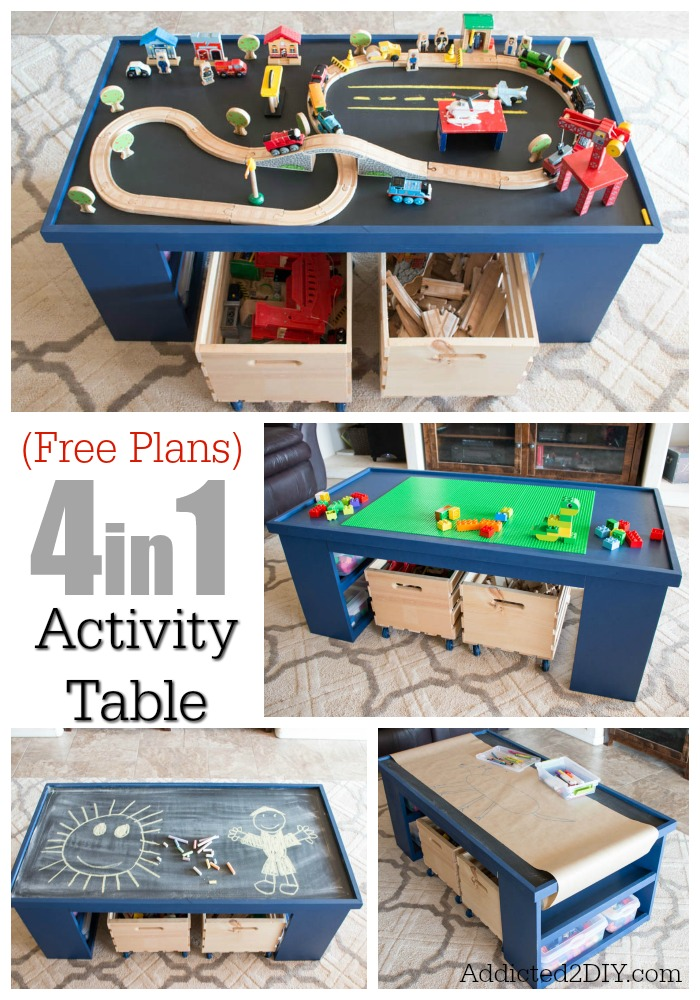 Free Train Set Table Plans