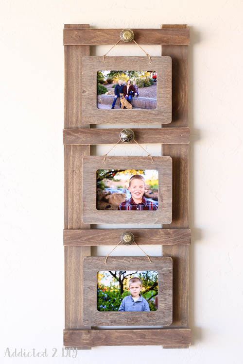 Rustic Ladder Photo Holder