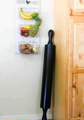 DIY Farmhouse Produce Rack