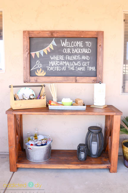 diy outdoor chalkboard welcome sign