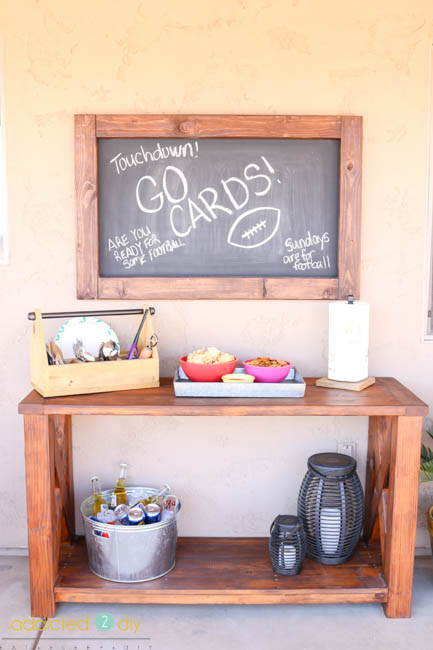 diy outdoor chalkboard sign