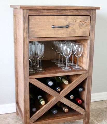 DIY Wine Cabinet – With Printable Plans