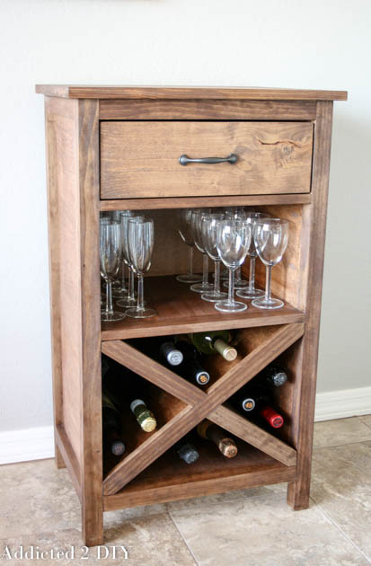 DIY Wine Cabinet With Printable Plans Addicted 2 DIY