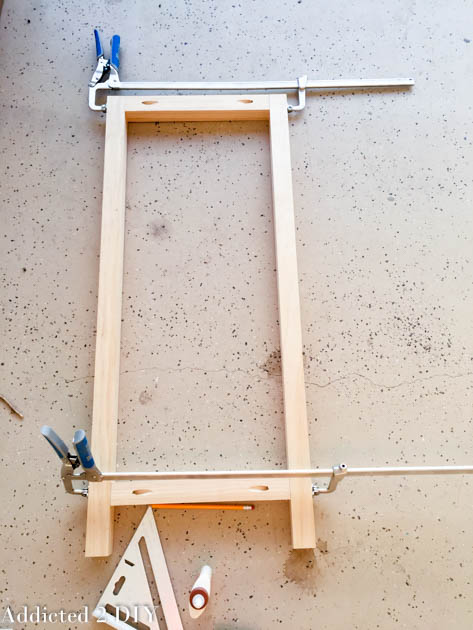 How to assemble the cabinet sides