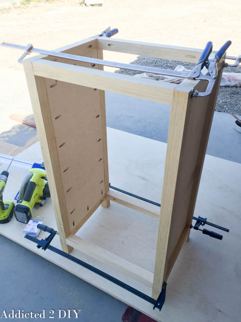 Assemble the cabinet frame