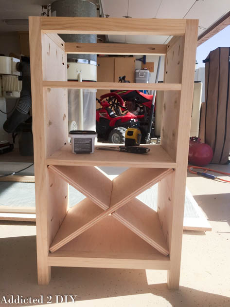 build an X wine storage