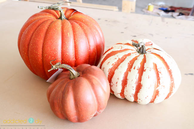 DIY Faux Galvanized Pumpkins