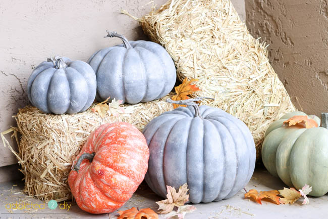 faux galvanized pumpkins