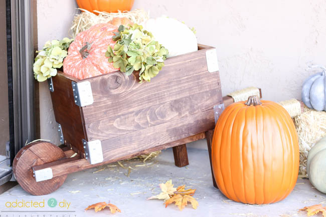 diy rustic industrial wheelbarrow