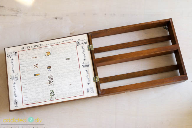 upcycled spice rack
