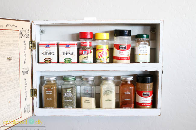 farmhouse spice rack