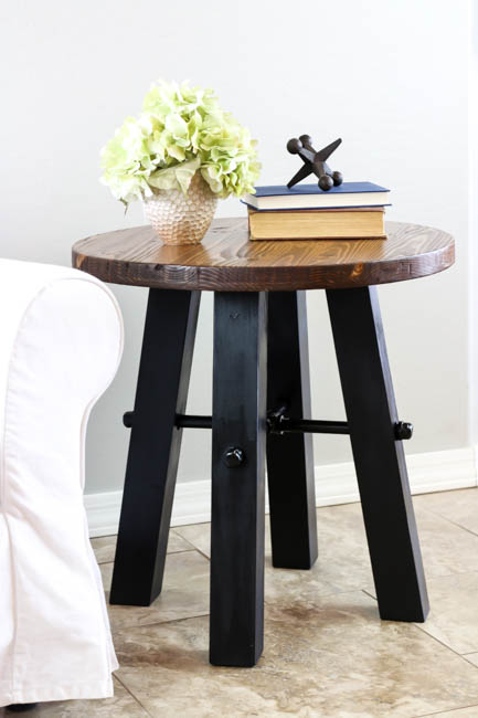 DIY Rustic Industrial Side Table