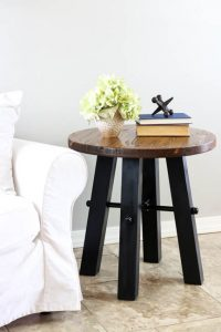 DIY Rustic Industrial Side Table w/ Printable Plans