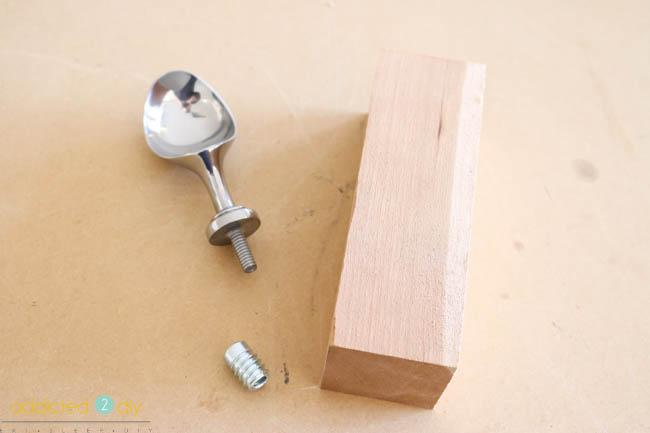 wood turned ice cream scoop