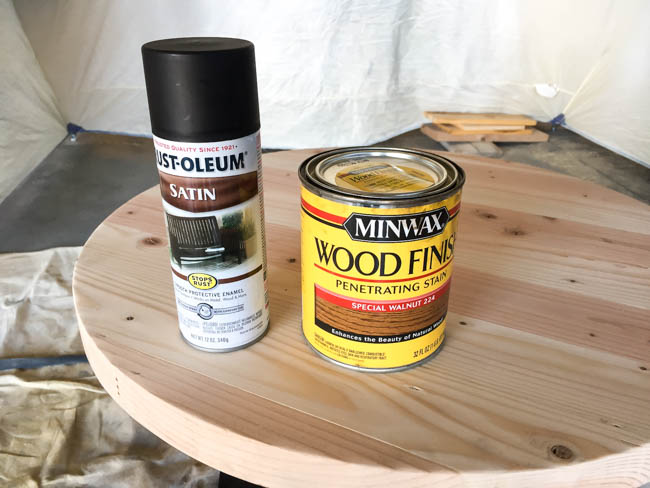 painting and staining a side table