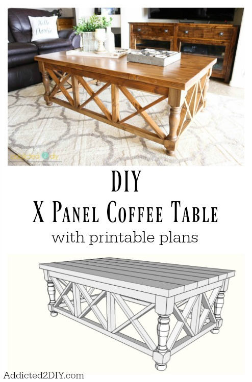DIY X Panel Coffee Table