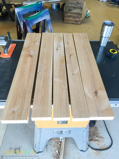 how to build a wood countertop - step 1