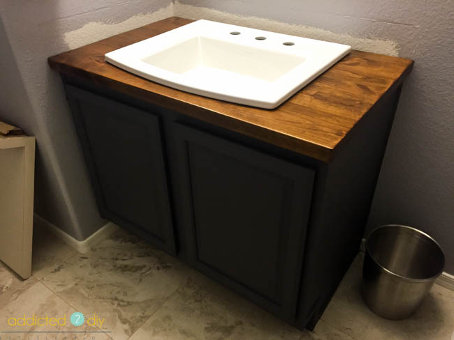 installing a top mount bathroom sink