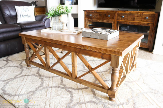 DIY X Panel Coffee Table Tutorial