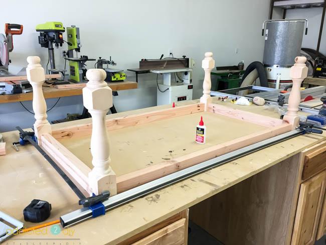 diy x panel coffee table - step 3