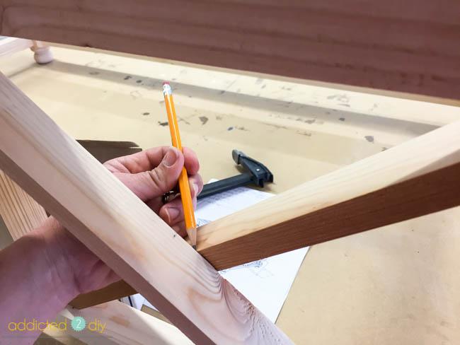 diy x panel coffee table - step 5
