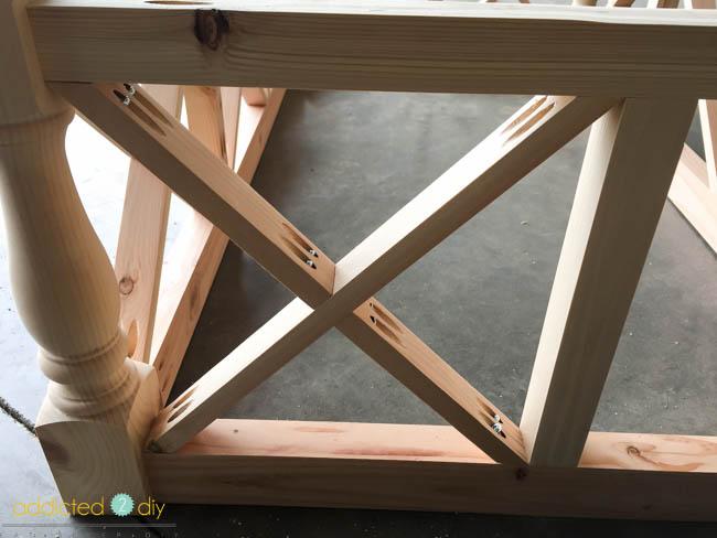 diy x panel coffee table - step 7