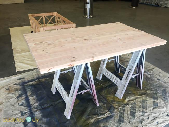 diy x panel coffee table - step 9