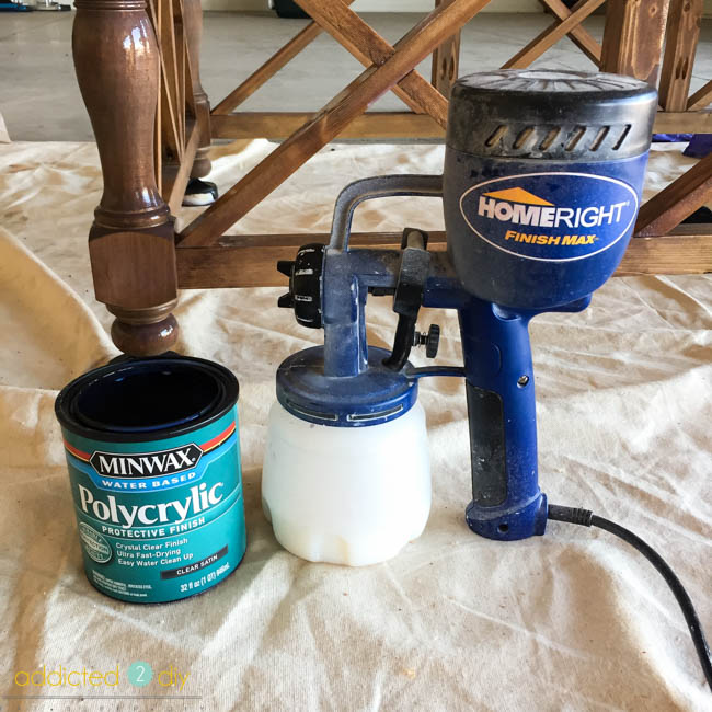 how to use polycrylic in a paint sprayer