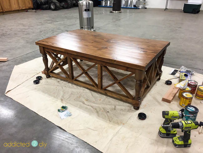 attaching top to coffee table base