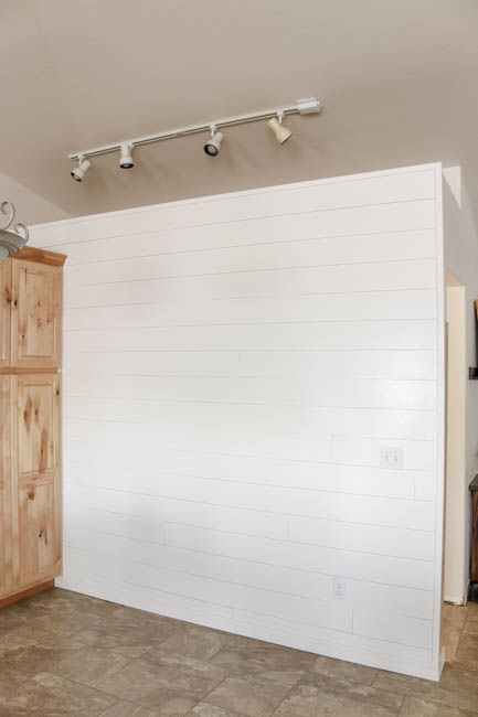 Faux Shiplap Wall - After