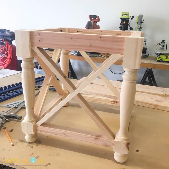 diy side table - step 6