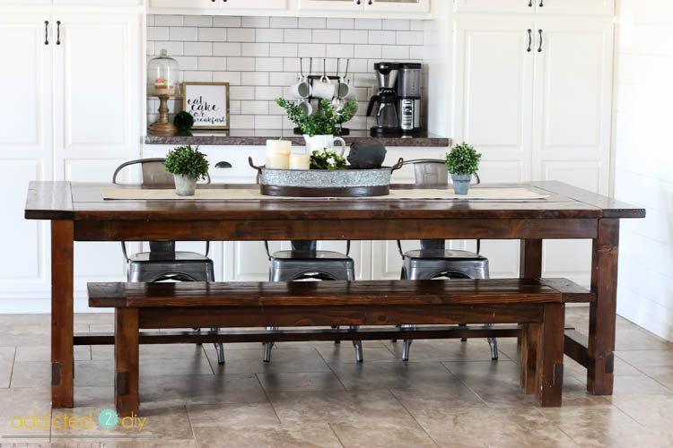 My Typically Barren Dining Table Got Some Much Needed Love During All Of  This Too, With A Pretty Farmhouse Style Centerpiece. I Put Together Some  Items From ...