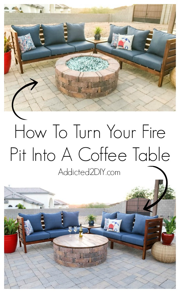 How To Turn A Garage Into A Bedroom: How To Turn Your Fire Pit Into A Coffee Table