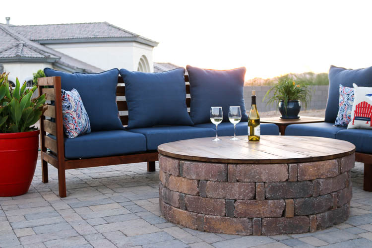 How To Turn Your Fire Pit Into A Coffee Table Addicted 2 Diy