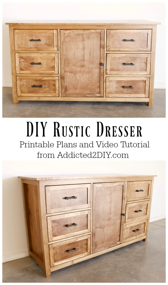 Diy Rustic Dresser W Free Building Plans Addicted 2