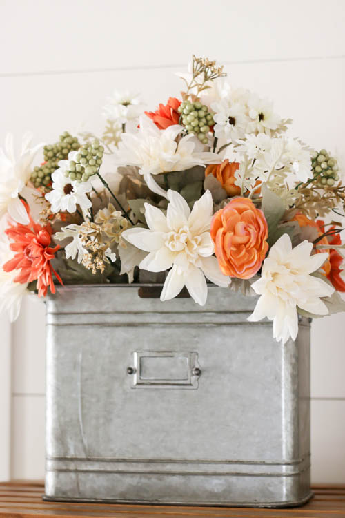 Farmhouse Fall Floral Decor