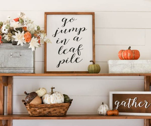 Simple Fall Entryway Updates