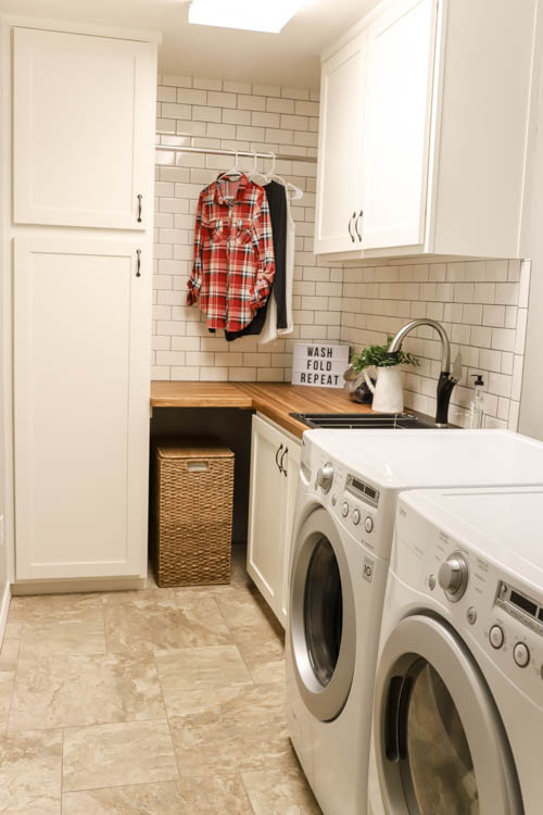 Modern Farmhouse Laundry Room: Getting Those Clean Paint Lines ...