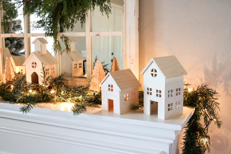 Christmas Village Houses.Diy Wooden Christmas Village Addicted 2 Diy