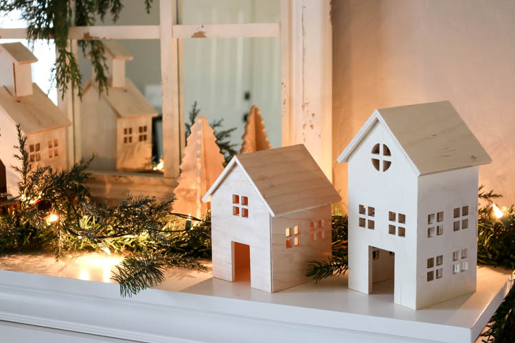 im partnering with inventables today to share with you how you can create your own custom christmas village using the x carve cnc router - Diy Wood Christmas Decorations