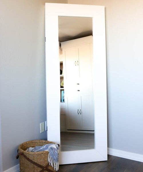 Free standing full length mirror